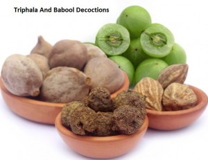 Triphala And Babool Decoctions
